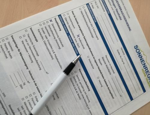 Mitmachen und Gewinnen: Fragebogenaktion Energieverbrauchserhebung bei Privathaushalten