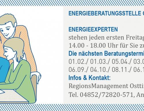 Energie- und E-Mobilitätsberatungen in Osttirol 2019